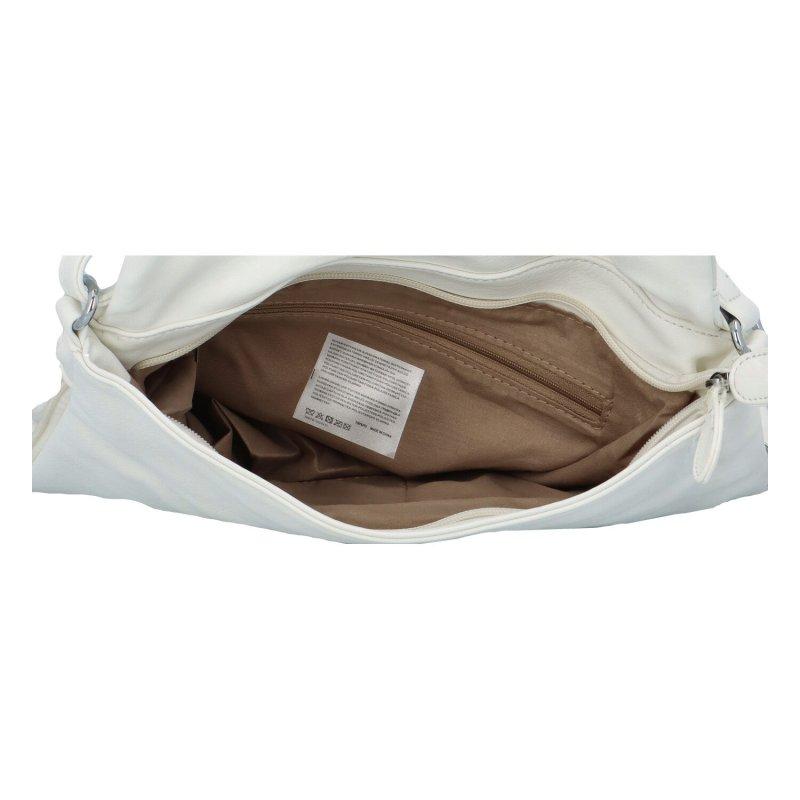 Krásná koženková crossbody kabelka Mike, bílá