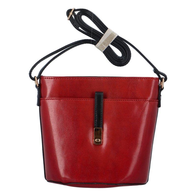 Koženková crossbody kabelka Ivet, červená