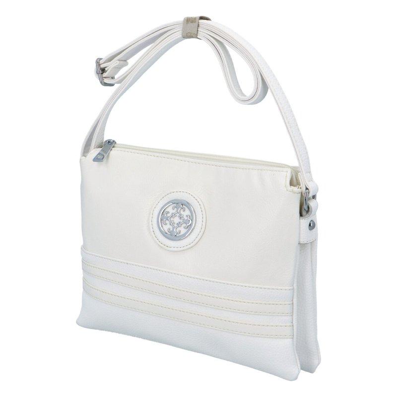 Dámská koženková kabelka Eva, bílá