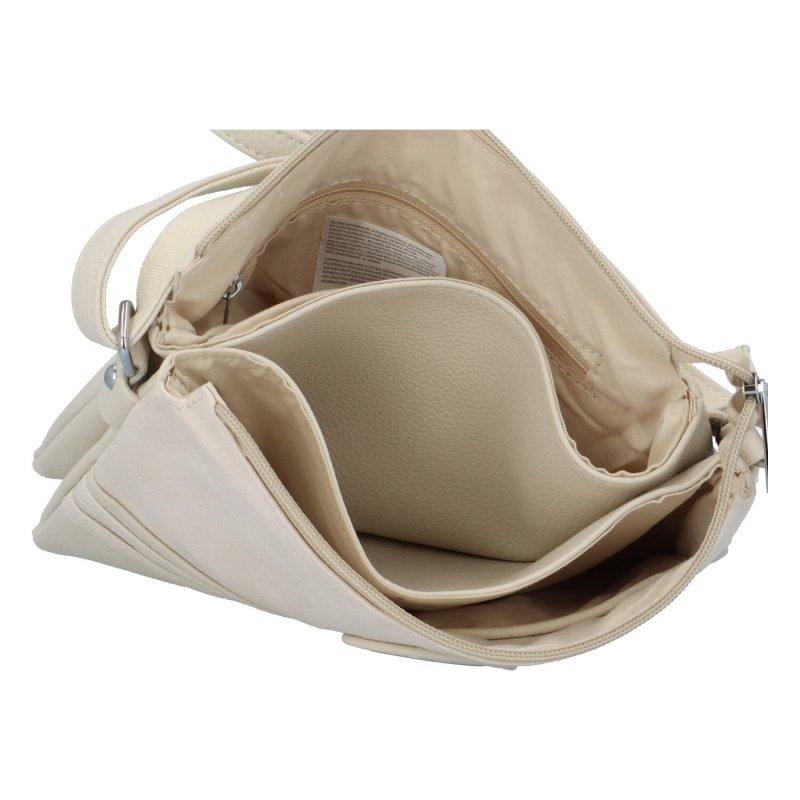 Dámská koženková kabelka Eva, béžová