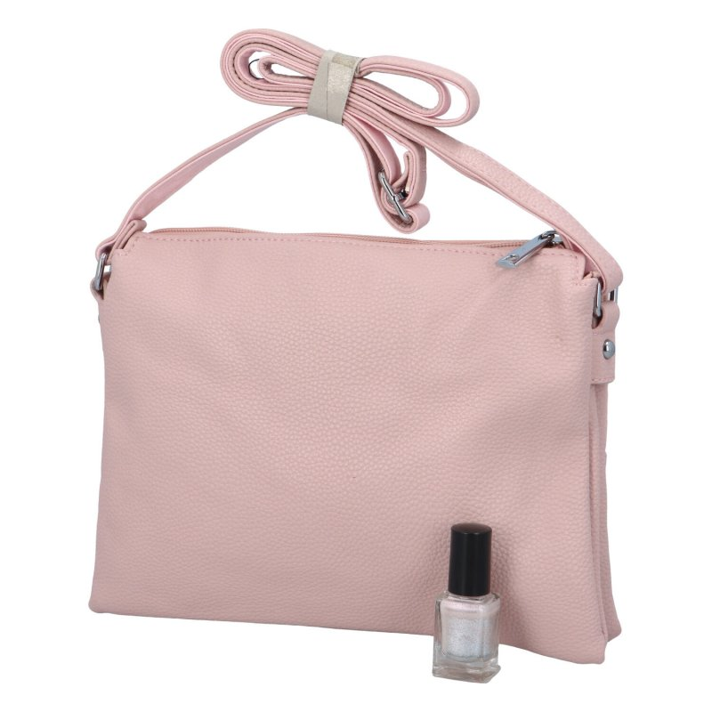 Dámská koženková kabelka Eva, růžová