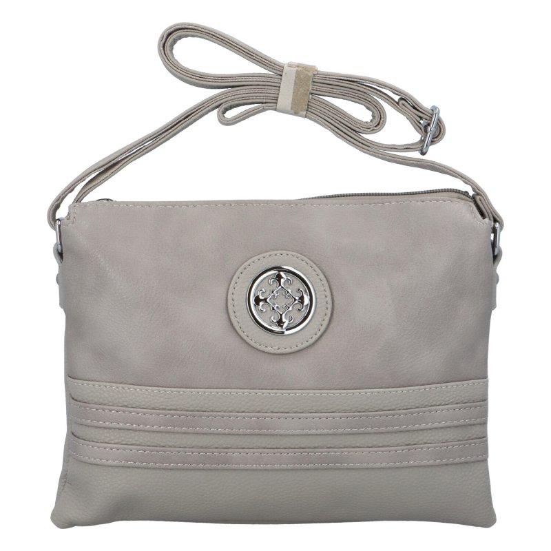 Dámská koženková kabelka Eva, šedá