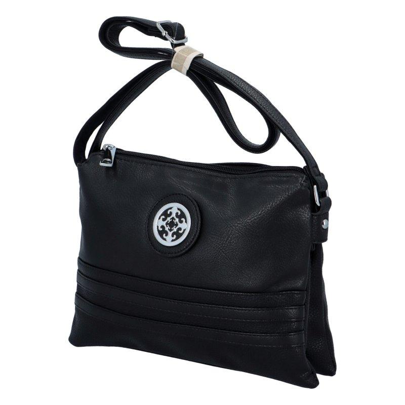 Dámská koženková kabelka Eva, černá