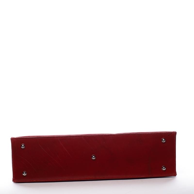 Dámská kožená kabelka Anna - červená