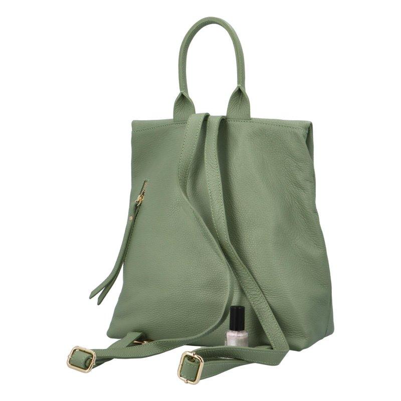 Krásný kožený batoh Samuel, zelený