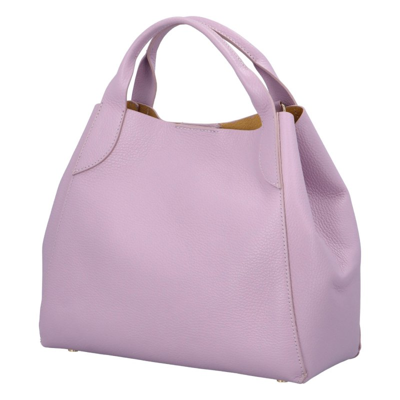 Kožená kabelka do ruky Tris, fialová