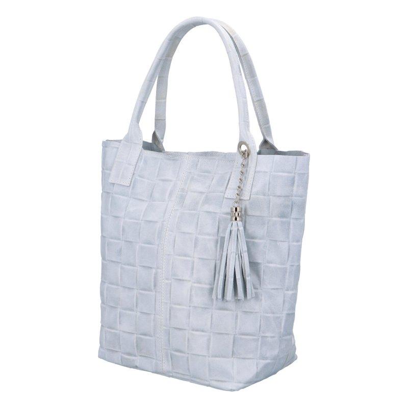 Luxusní dámská kožená kabelka Inge, bílá