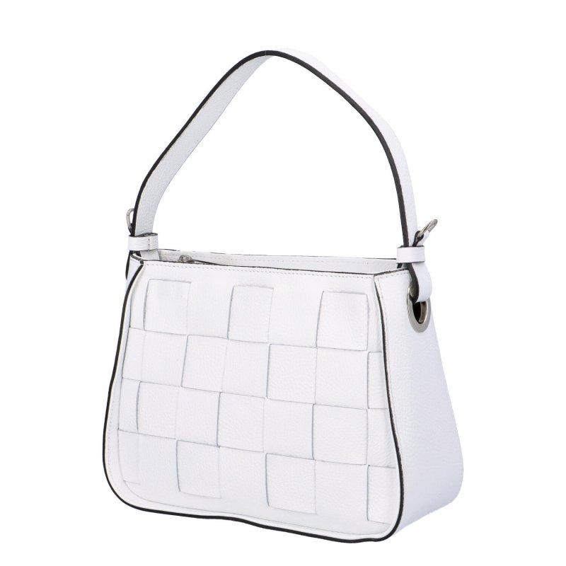 Stylová kožená kabelka Dorota, bílá