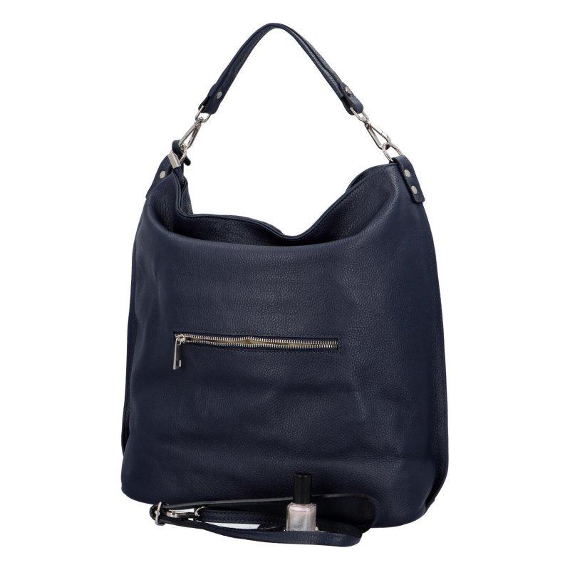 Dámská kožená kabelka Chloe modrá