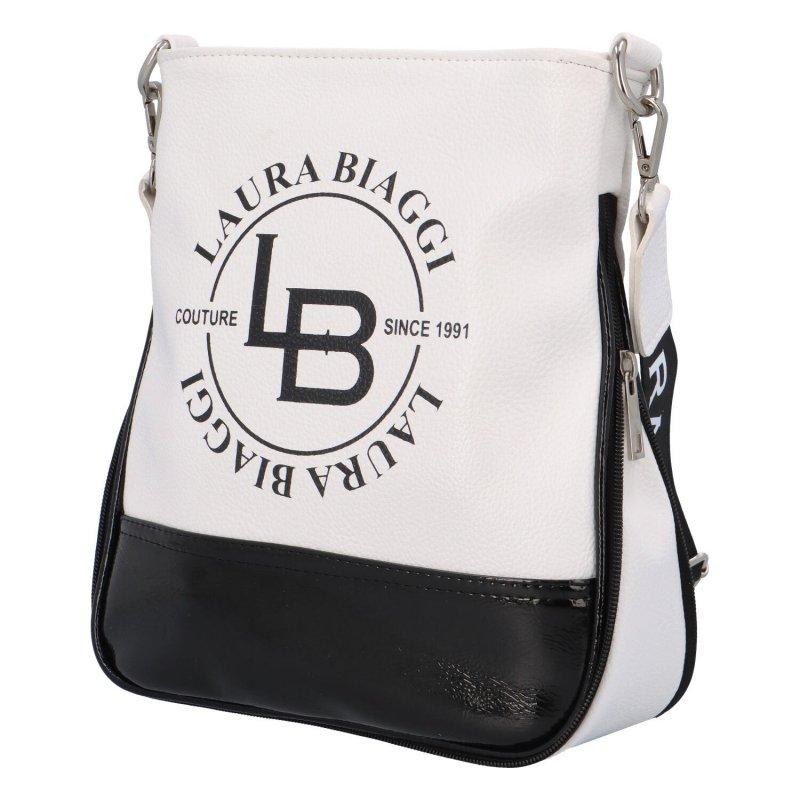 Velká sportovní dámská taška L.B. Star White, bílá/černá