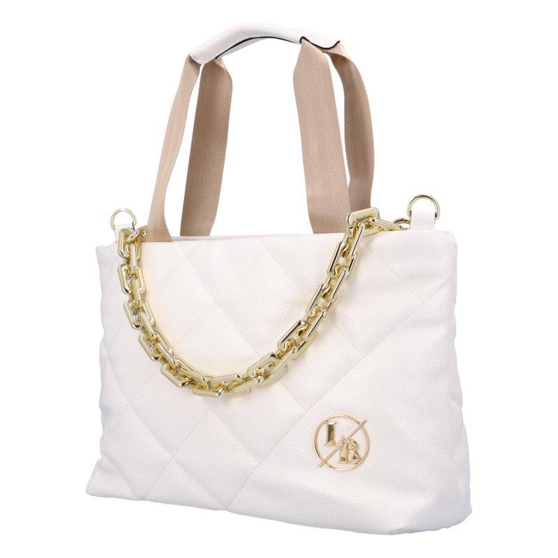 Módní dámská koženková kabelka L.B White, bílá