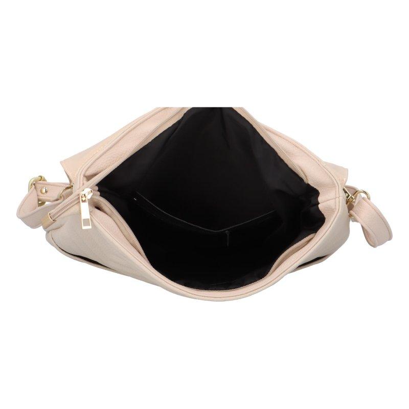 Moderní batůžek s klopou Laura Biaggi Giar, béžová