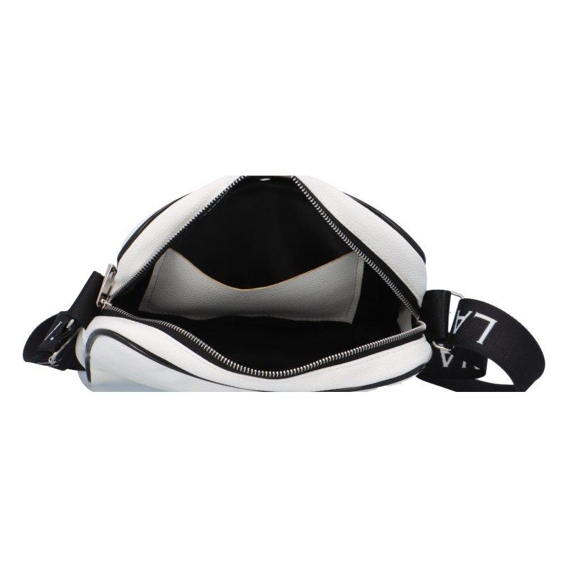 Dámská koženková crossobdy black and white, bílá/černá