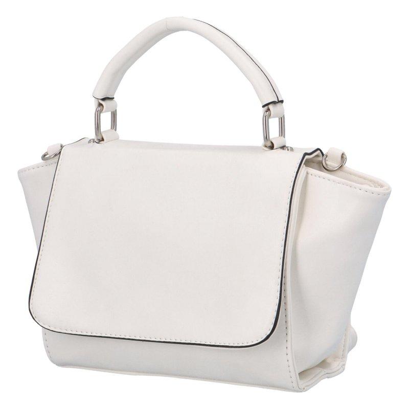 Dámská koženková kabelka do ruky Simon, bílá
