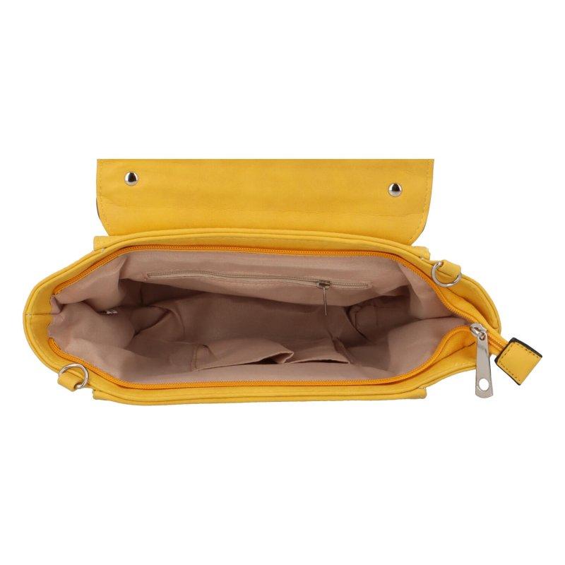 Dámská koženková kabelka do ruky Simon, žlutá
