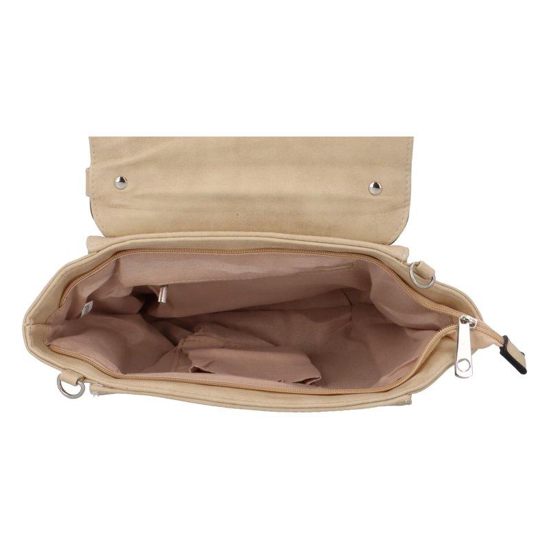 Dámská koženková kabelka do ruky Simon, béžová