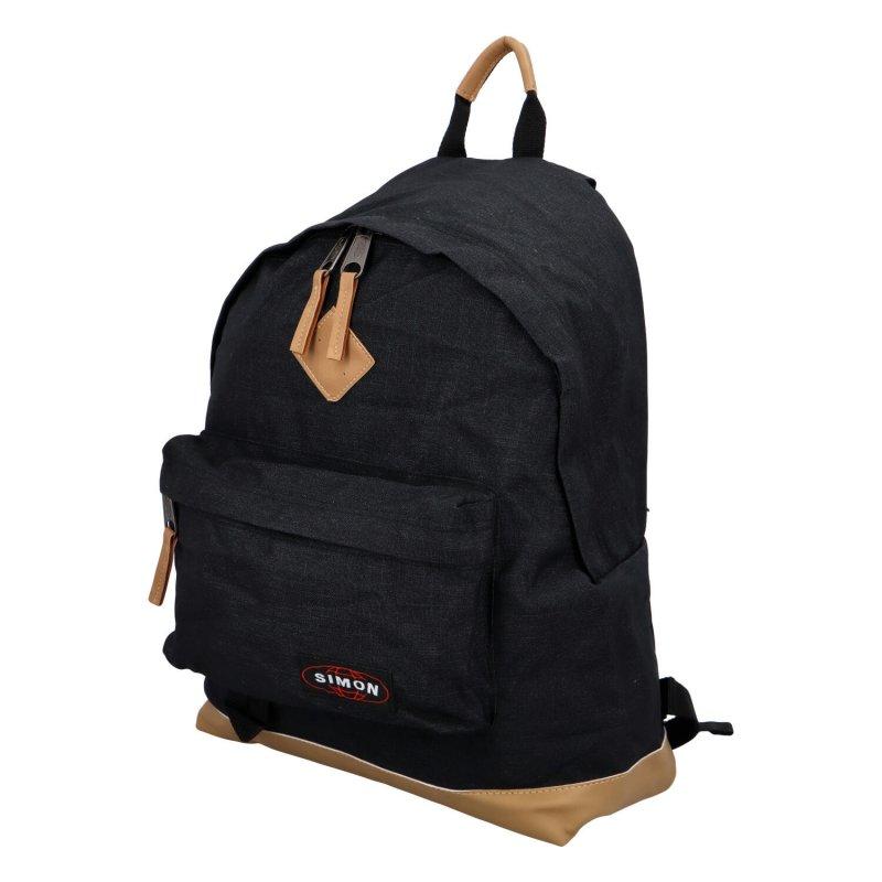 Sportovní dámský látkový batoh Leny, černá