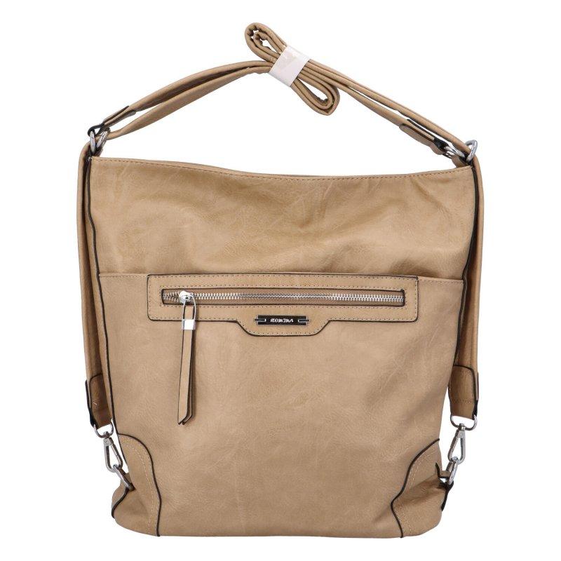 Dámská koženková kabelka/batoh Basilidee, zemitá