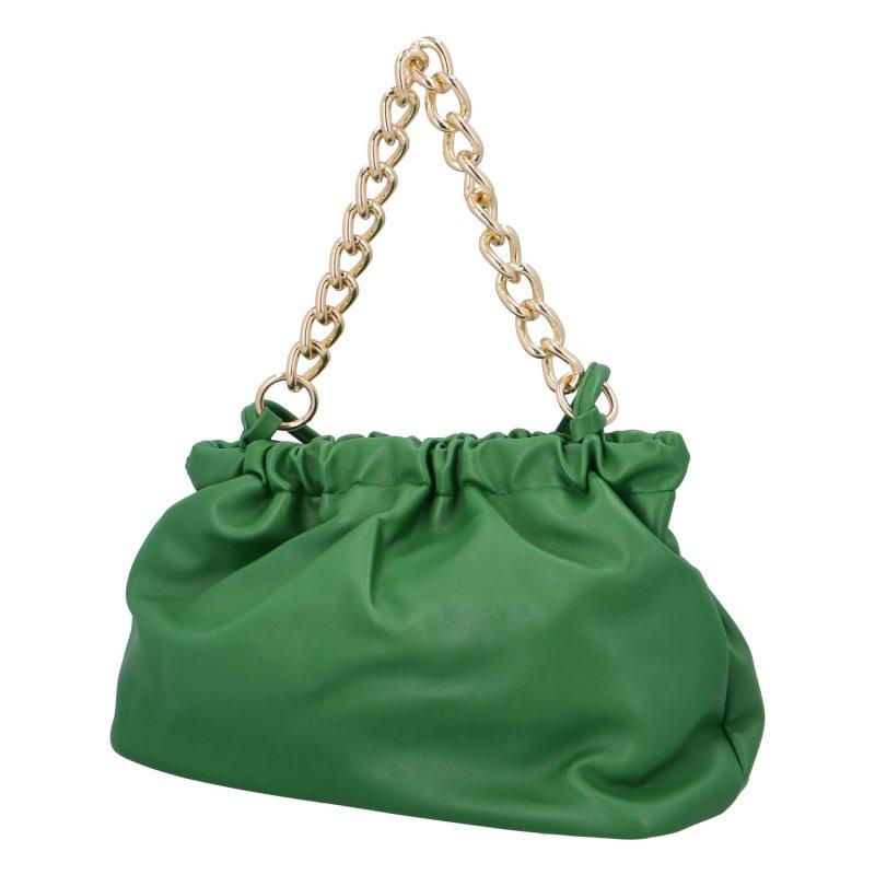 Nepřehlédnutelná menší dámská koženková kabelka Barbii, zelená