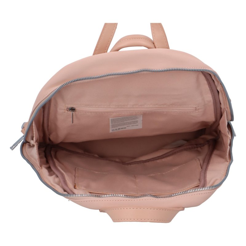 Menší dámský městský koženkový batůžek Sendi, růžová