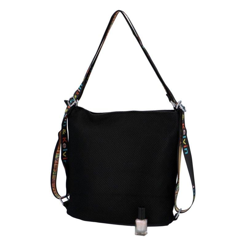 Letní dámská crossbody/batůžek ve sportovním duchu Alice, černá