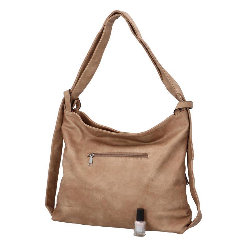 Koženková kabelka-batoh Egon, khaki