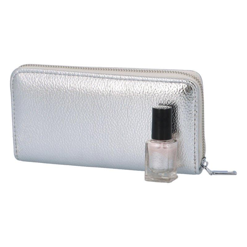 Luxusní dámská peněženka Patty, stříbrná