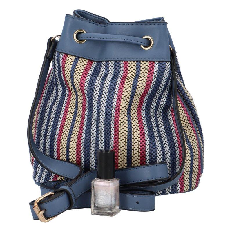 Barevná dámská kabelka - vak Jimmy, modrá