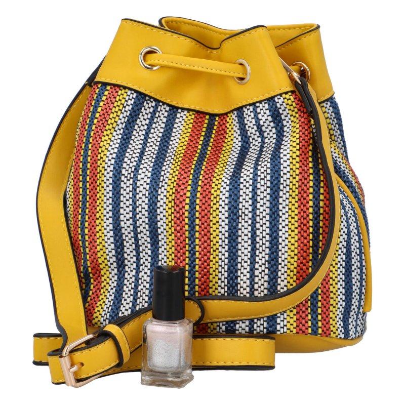 Barevná dámská kabelka - vak Jimmy, žlutá