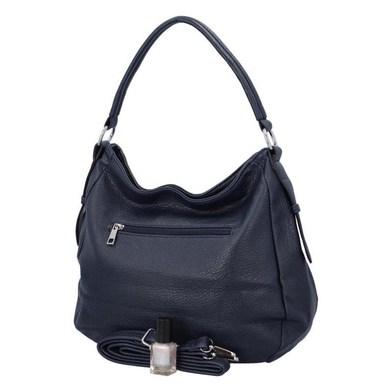 Dámská koženková kabelka Elle, tmavě modrá