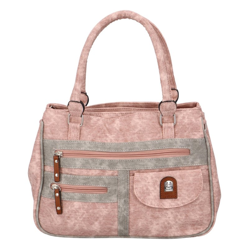 Prostorná dámská kabelka Dolores, růžová