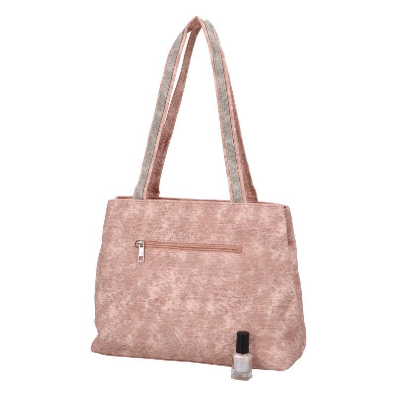Prostorná dámská kabelka Mart, růžová