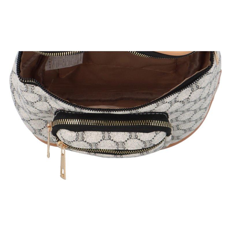 Luxusní koženková crossbody kabelka Meggie, bílá