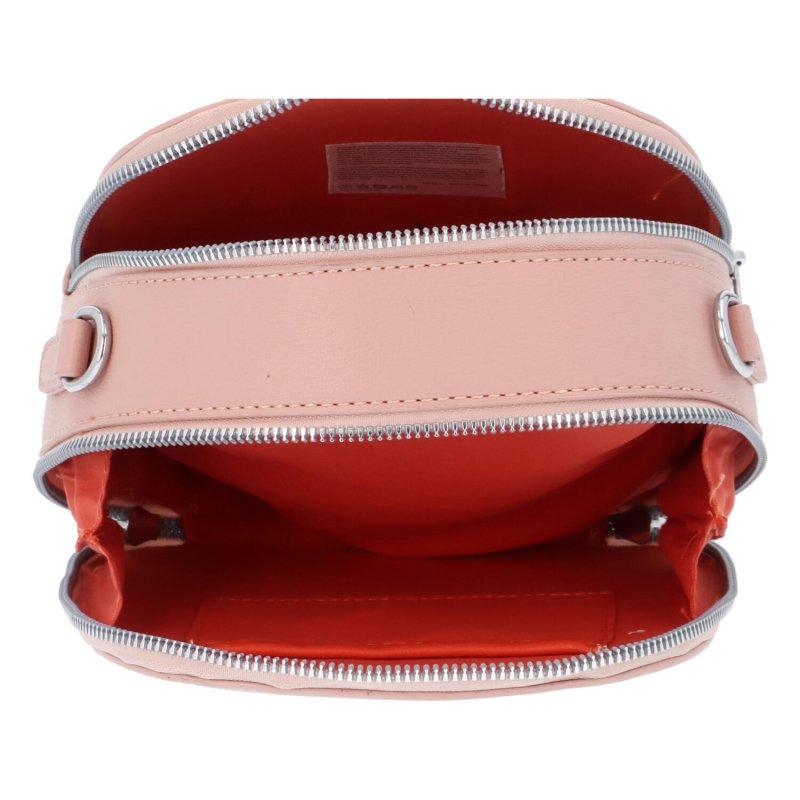 Malá koženková kabelka Tina, růžová