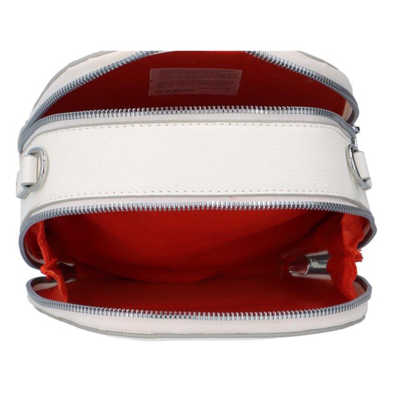 Malá koženková kabelka Tina, bílá