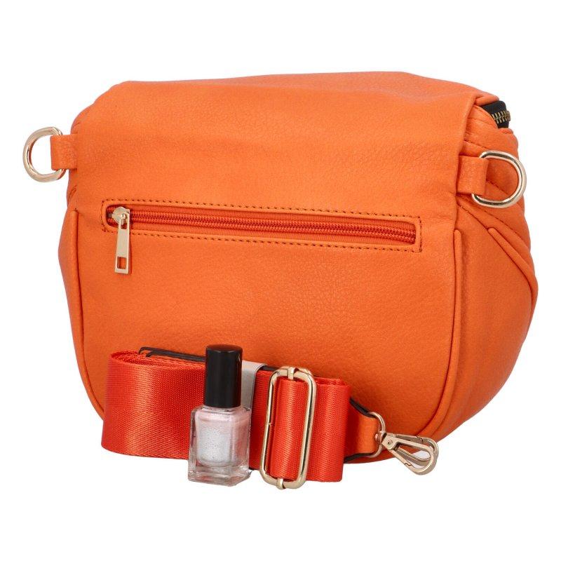 Stylová dámská crossbody kabelka Lota, oranžová