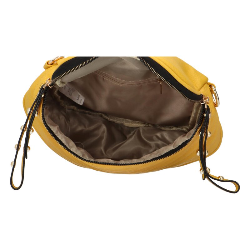 Stylová dámská crossbody kabelka Lota, žlutá