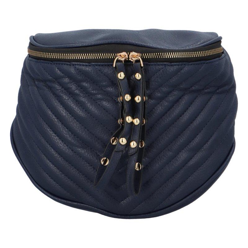 Stylová dámská crossbody kabelka Lota, tmavě modrá