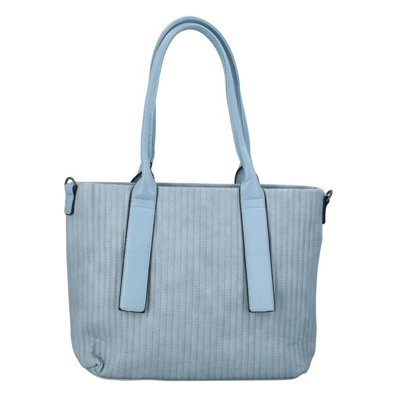 Elegantní prostorná dámská kabelka Lada, modrá