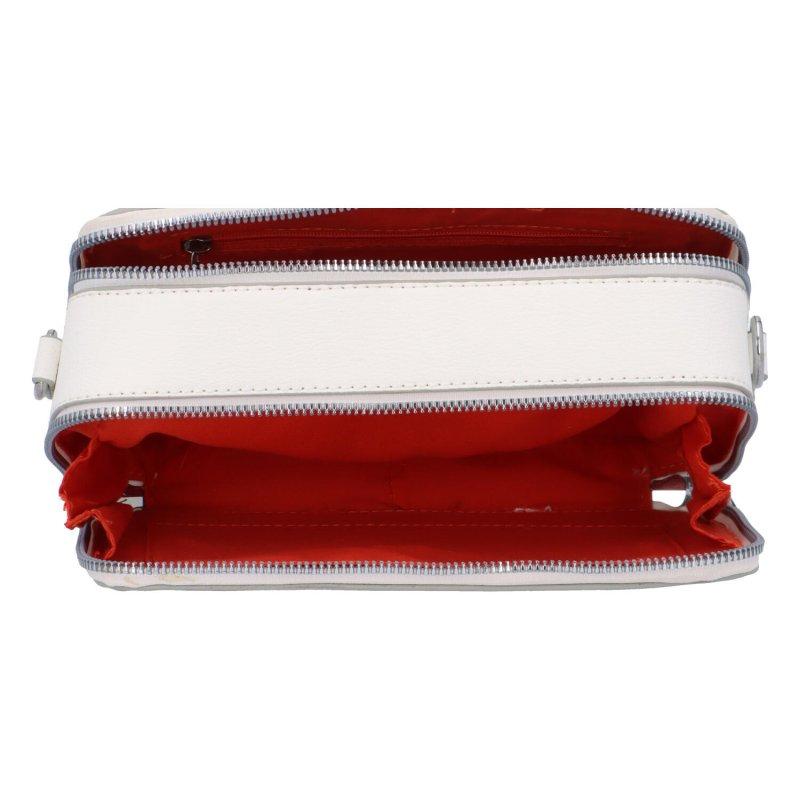 Malá koženková crossbody kabelka Lisa, bílá