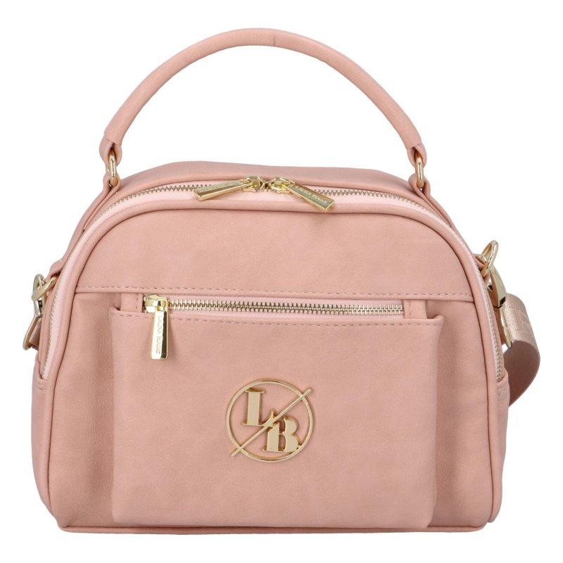Stylová dámská kabelka přes rameno Deesy, růžová
