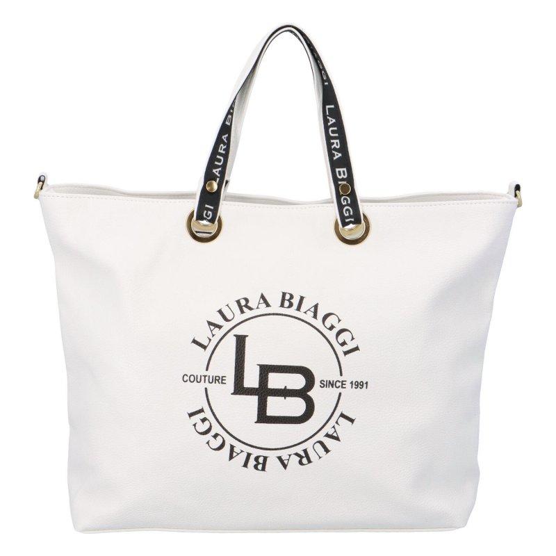 Dámská koženková kabelka LB Moderno, bílá