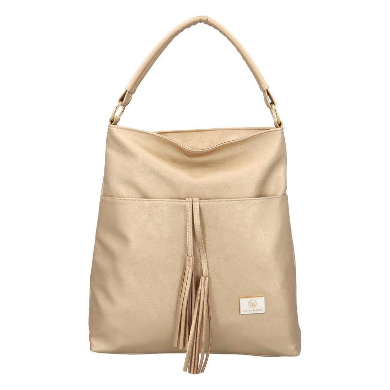 Módní kabelka Anet, béžová