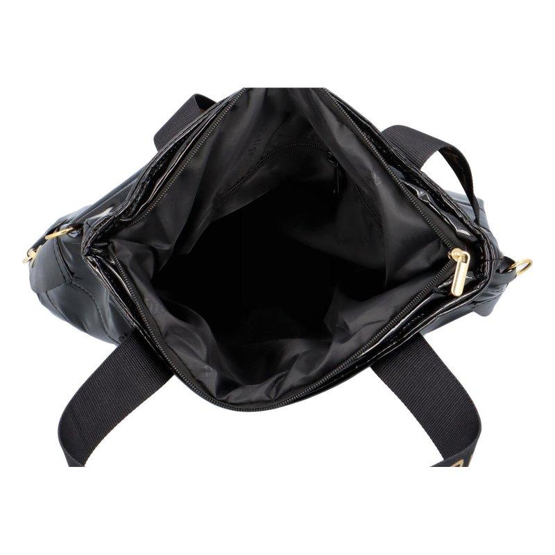 Luxusní dámská prošívaná kabelka Pillo, černá