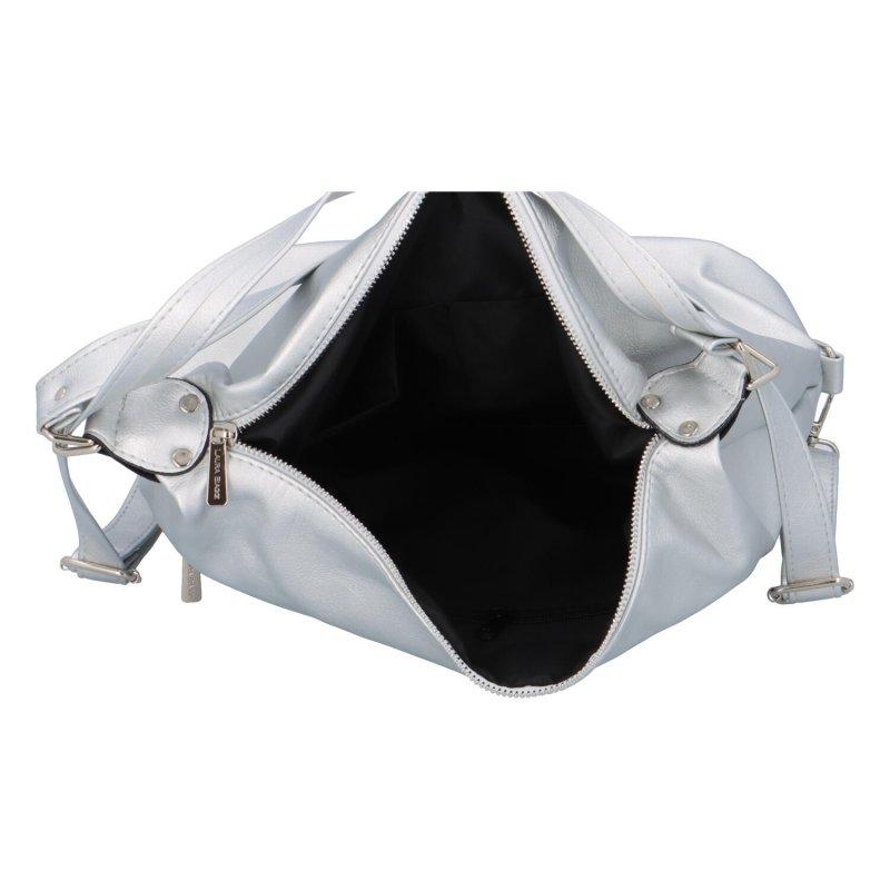 Stylový dámský kabelko-batůžek Laura Biagg Eva, stříbrný