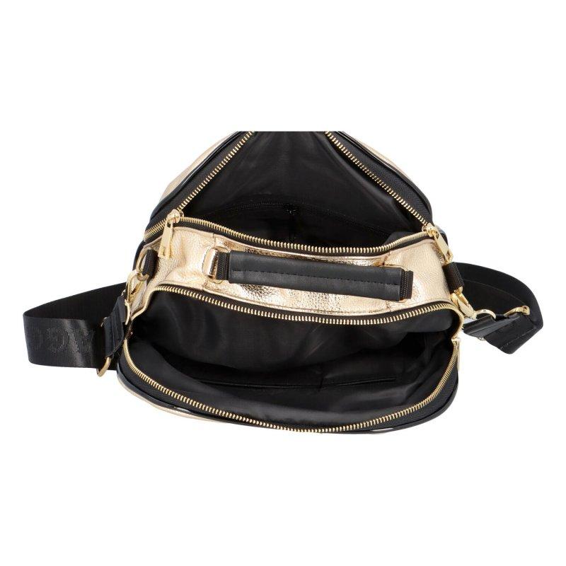 Dámská koženková kabelka Luxury city, zlatá