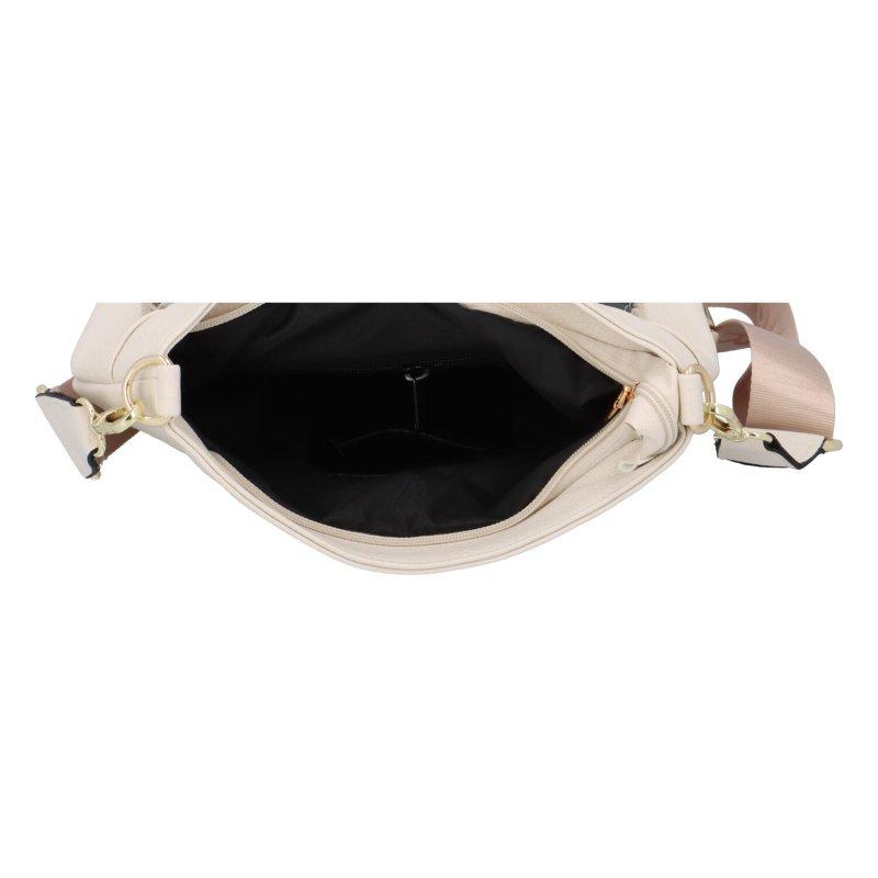 Stylová dámská koženková taška s klopou Alina Laura Biaggi, béžová