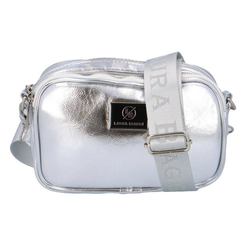 Stylová malá kabelka do ruky nebo přes rameno Zoe, stříbrná