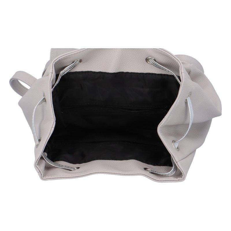 Trendy dámský batůžek Clemmie, šedý