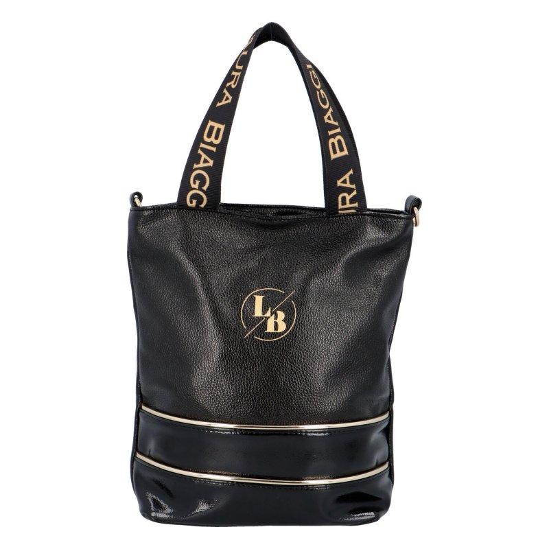 Stylová koženková taška Dorota černá